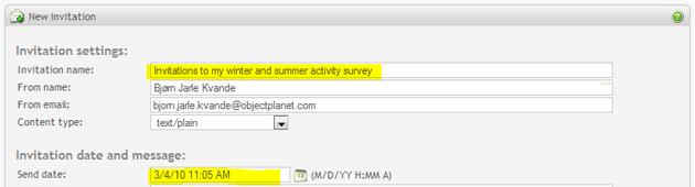 Survey software online surveys web surveys invitation name and date stopboris Choice Image