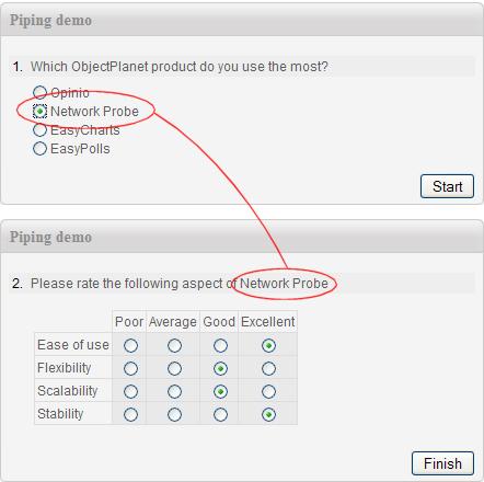 survey piping dynamic web surveys